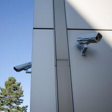 Überwachungskameras an Hauswänden